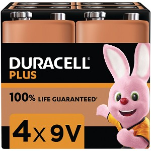 Duracell Plus Power 9v pakke af 4