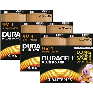 Duracell Plus Power 9v pakke af 12