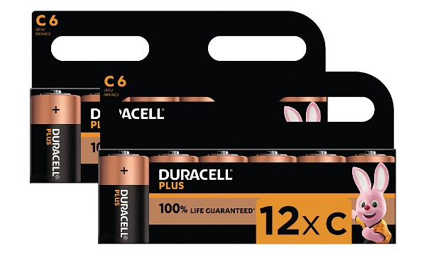 Duracell Plus Power C Size (12 Pack)